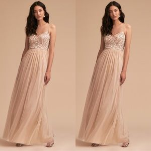 Anthropologie x BHLDN Elowen Dress Oyster